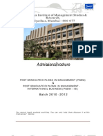 PGDM Admission Brochure