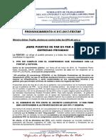 PRONUNCIAMIENTO N°017-2017-FENTAP