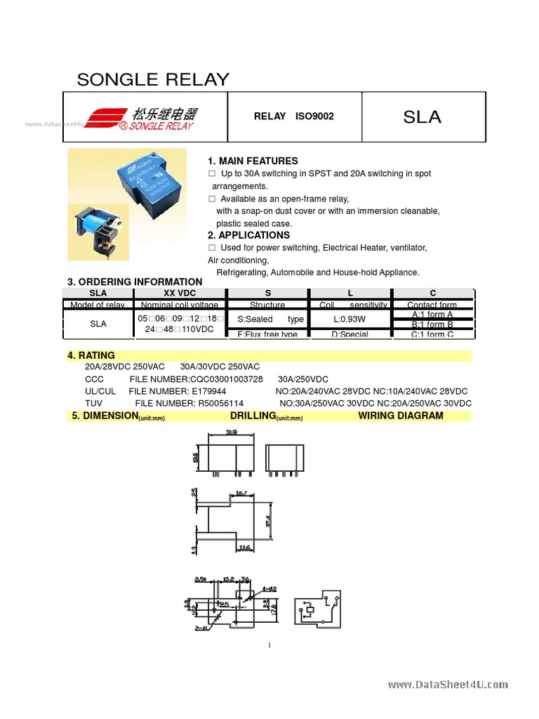 250vdc Wiring Diagram Explained Diagrams Index 39 Amplifier Circuit Seekiccom Sla 24vdc S L A Songle Relay Summer Olympics Sports Ford Schematic