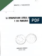 La Interpretacion Literal de La Ley y Sus Problemas
