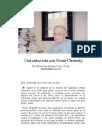 Una Entrevista Con Noam Chomsky (Habla Sobre Lori Berenson)