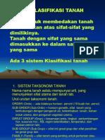 8. Dasar-dasar Klasifikasi, Survei Tanah, Dan Evaluasi Lahan