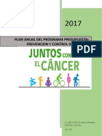 1...Cancer--plan de Trabajo de Cancer 2017
