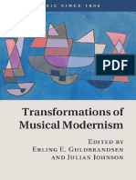 Transformations of Musical Modernism - E. E. Guldbrandsen, J. Johnson (Eds.) (2016)