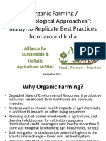 Organic Farming Best Practices Across States for Sharing1