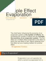 Multiple Effect Evaporator lecture