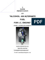 18-Alcohol- An Alternate Fuel for Ic Engine