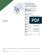 Elementos Finitos Perfil 120 x60x2.5-Análisis Estático 1-2