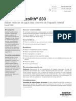 BASF MasterPozzolith 230 - Ficha Técnica