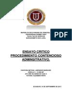 ENSAYO PROCEDIMIENTO CONTENCIOSO ADMINISTRATIVO..docx