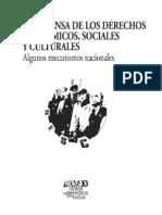La Defensa de los  Derechos Económicos Sociales y Culturales.