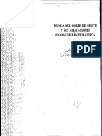 Teoria Del Golpe de Ariete y Sus Aplicaciones en Ingenieria Hidraulica