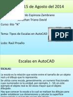 Escalas AutoCAD