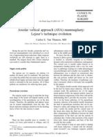 Areolar Vertical Approach (AVA) Mammaplasty