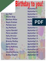 september happy birthday sign