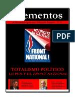 Elementos Nº 71. Le Pen y Fn