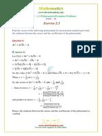 10 Maths Ncert Exemplar Exercise 2 3 Question 6