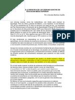 EVOLUCIÓN DE LA DIDÁCTICA DE LAS CIENCIAS EXACTAS