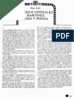 Enrique González Martínez por Max Aub