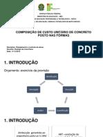 Composicao Unitaria de Concreto Posto Em Forma