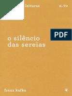 o Silêncio Das Sereias - Kafka