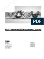ANSYS Mechanical APDL Introductory Tutorials