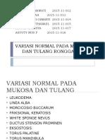 Variasi Normal Pada Mukosa Dan Tulang Rongga Mulut [Autosaved] Ppt