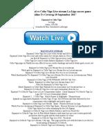 [Live-Tv]..Espanyol vs Celta Vigo Live stream La Liga soccer game watch online Tv Covereg 18 September 2017.pdf