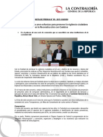 NP95-2017 | Contraloría y Proética unen esfuerzos para promover la vigilancia ciudadana en la Reconstrucción con Cambios