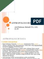 Pengantar Antropologi budaya II