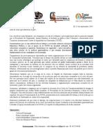 Comunicado Crisis Guatemala ESP