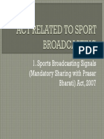 Act Related to Sport Broadcasting