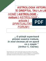 ASTROLOGIA VIITORULUI