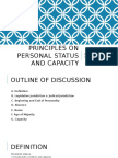 Principles on Personal Statud and Capacity