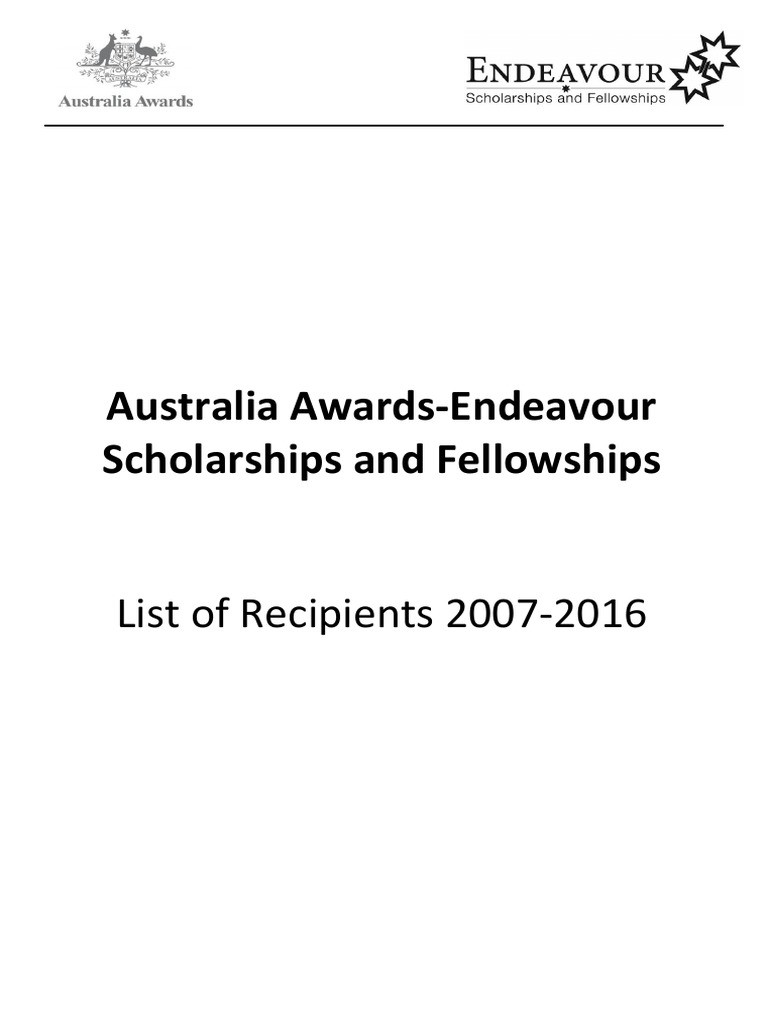 07 16 Endeavour Recipients Pdf