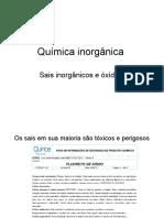 Aula Quimica Inorganica Sais e Oxidos