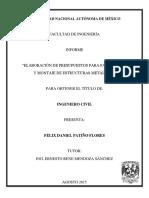 Tesis Elaboración de Presupuestos Para Fabricación y Montaje de Estructuras Metalicas