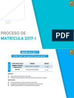 Matrícula 2017-I Ingresantes 2017-I