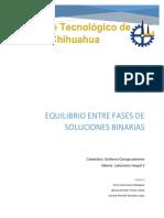 Equilibrio Entre Fases de Soluciones Binarias