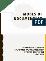 Modes of Documentary SIM