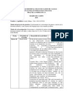 Diario de Campo L. 2015