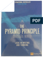 Barbara Minto the Pyramid Principle Logic in Writing and Thinking