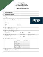 Student Training Survey