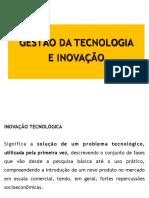 Gestão Tecnologia e Inovação
