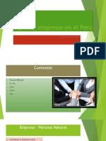 Tipos de Empresas en El Peru