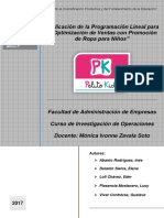 PELITO KIDS - Final Investigacion de Operaciones