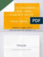 Maldonado Economia Del Comportamiento y Politicas Publicas 06 Sep 2017