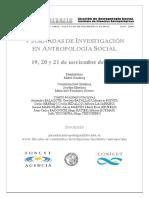 V Jornadas Antropologia Social 2008 - 2º Circular