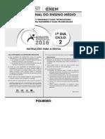 2016_Coleção Enem - Ciclo 2 - Prova I - Resoluções