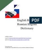 English Russian Russian English Dictionary